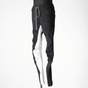 Anatomical Fitted Long Pants BK×WH No.2