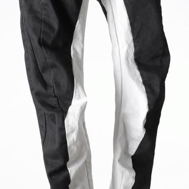 Anatomical Fitted Long Pants BK×WH No.12
