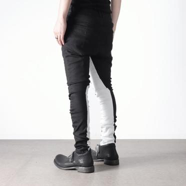 Anatomical Fitted Long Pants BK×WH No.18