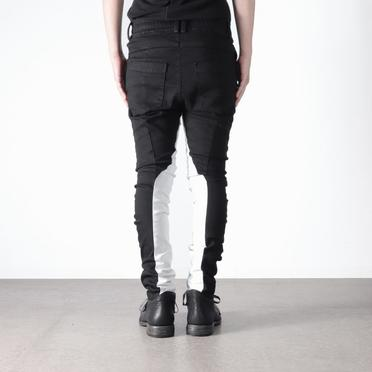 Anatomical Fitted Long Pants BK×WH No.19