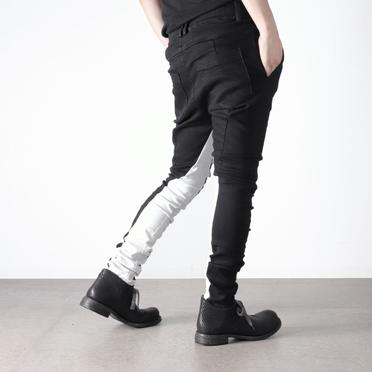 Anatomical Fitted Long Pants BK×WH No.20