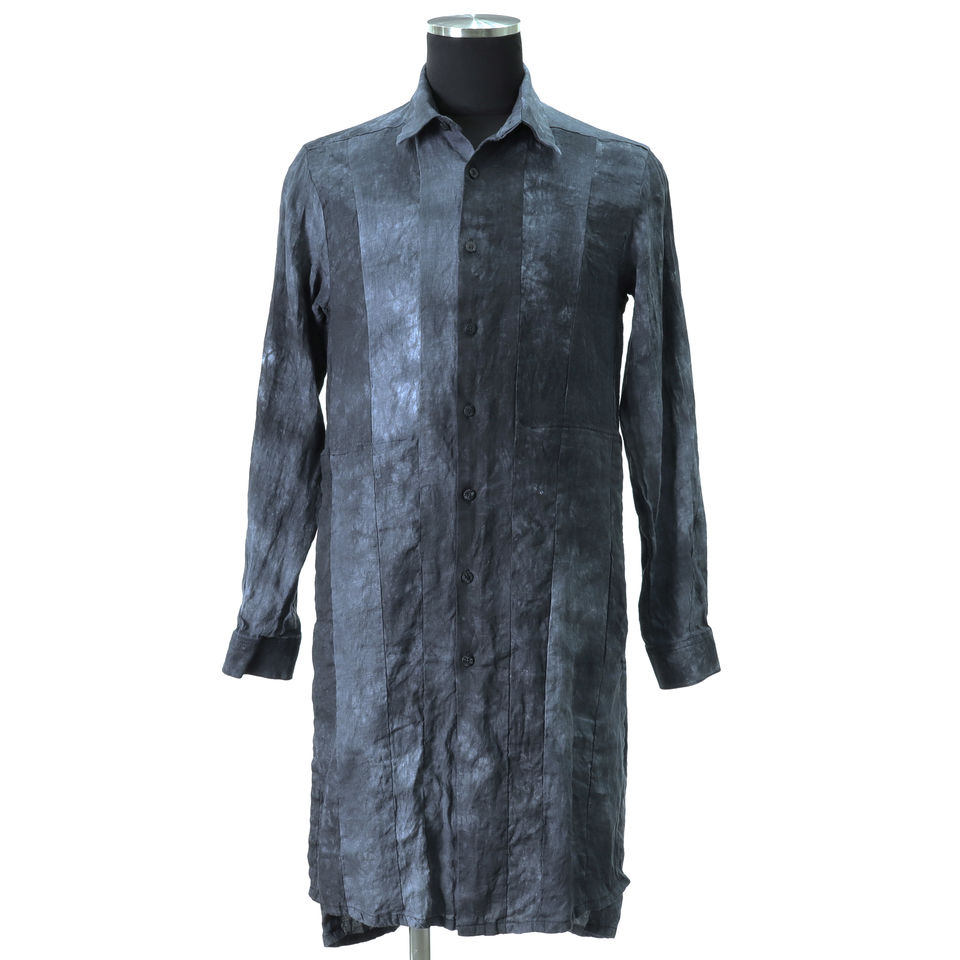 Kagozome Linen Long Shirts D.NAVY arco LIMITED EDITION