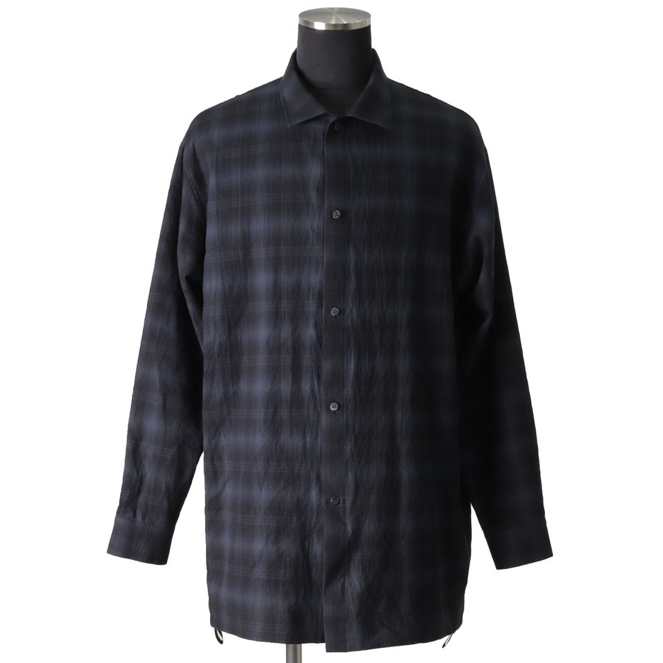 Checked Long Sleeve Shirts BK×GY