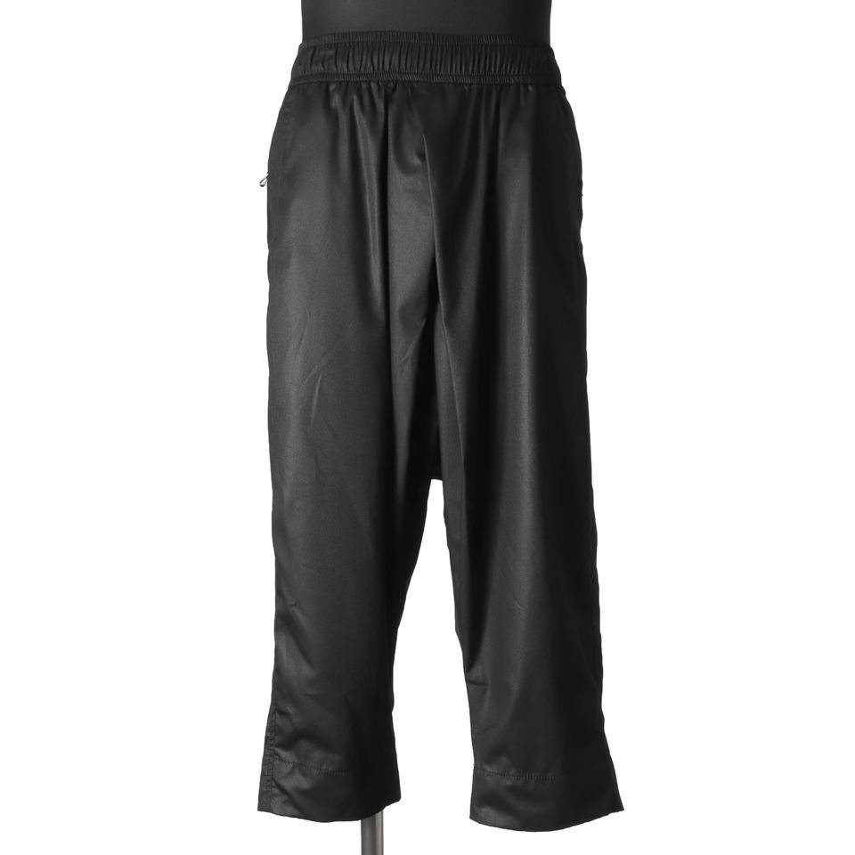 TUCKED CROPPED PANTS BLACK