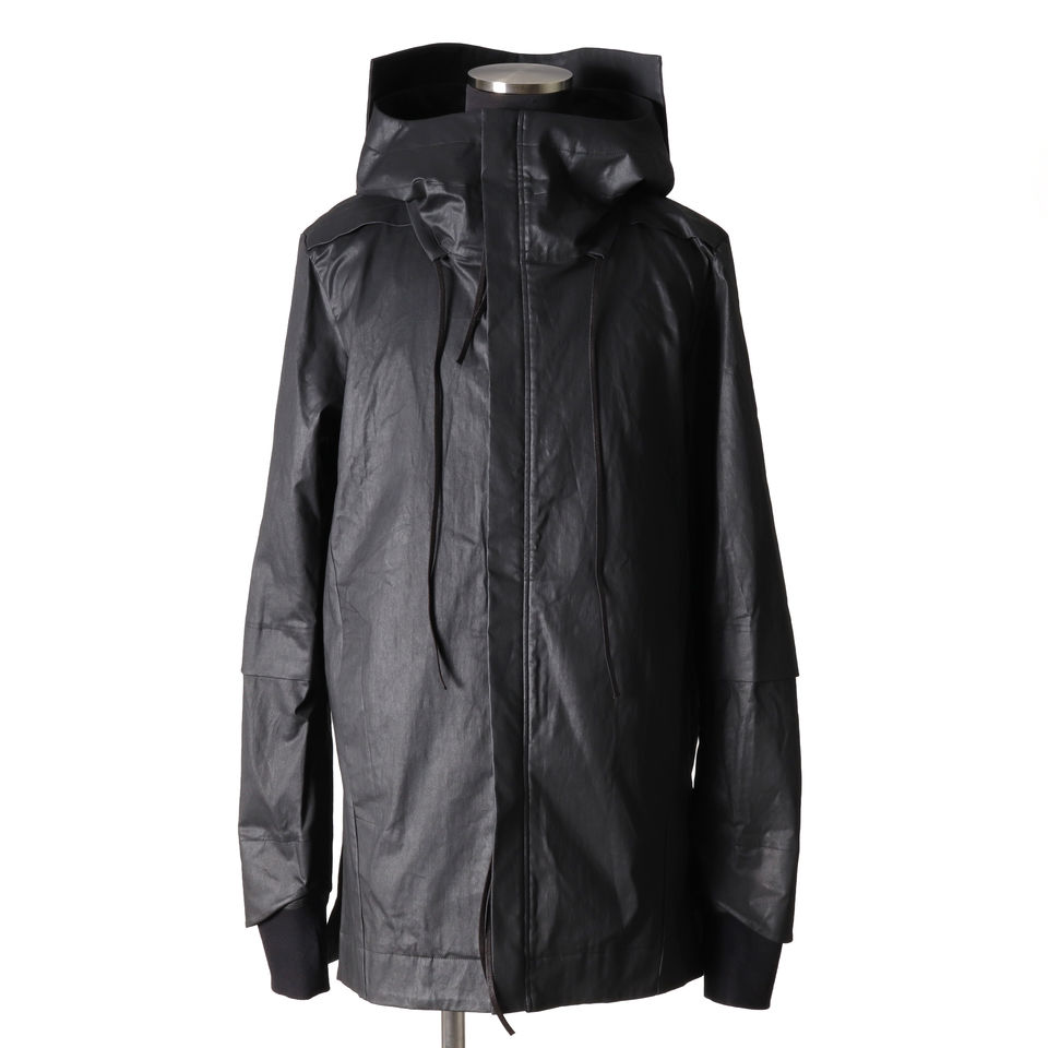 Coated Stretch Big Hoodie Blouson BLACK arco LIMITED EDITION