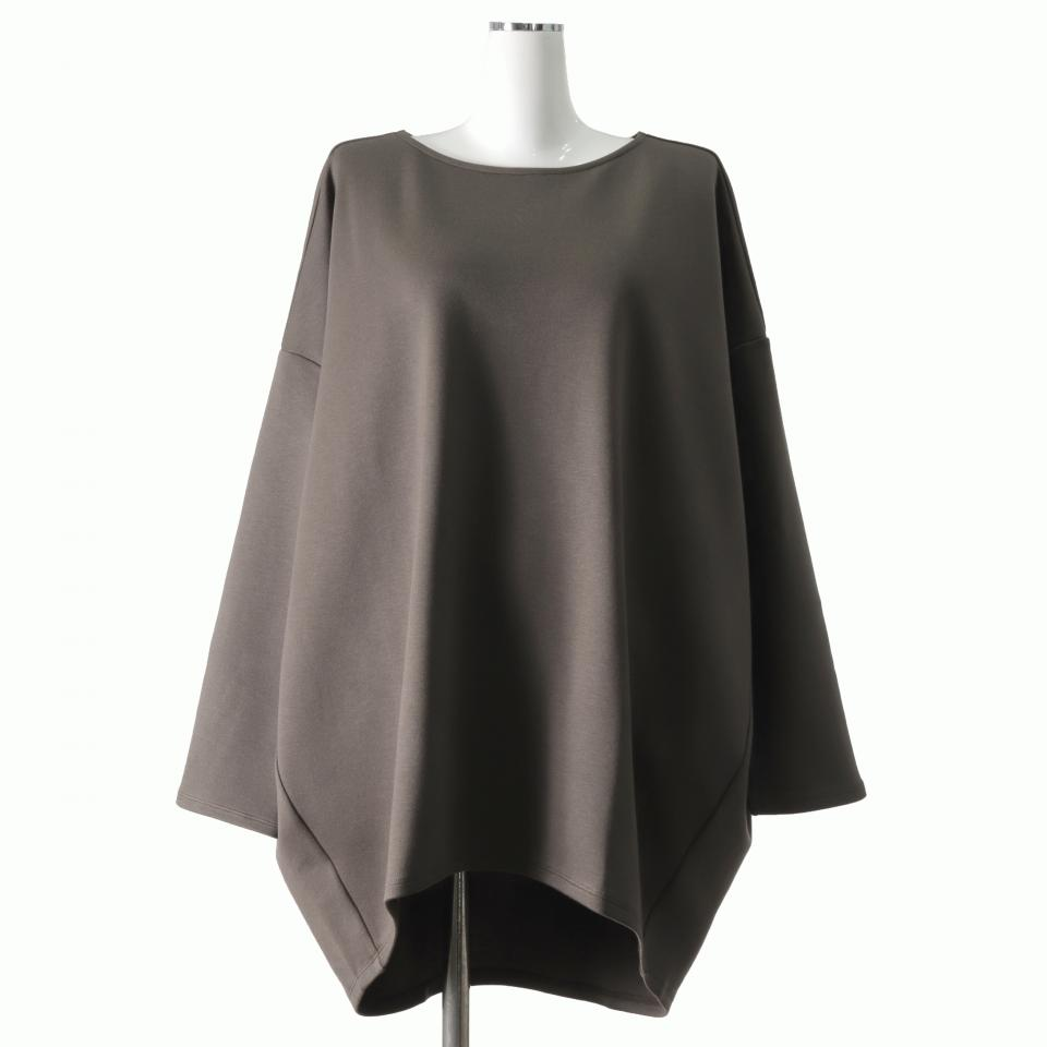 boat neck cocoon P/O BROWN