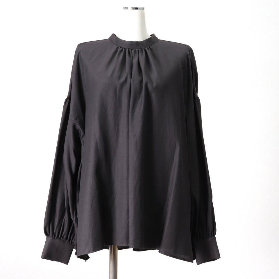 st/n gather blouse CHARCOAL