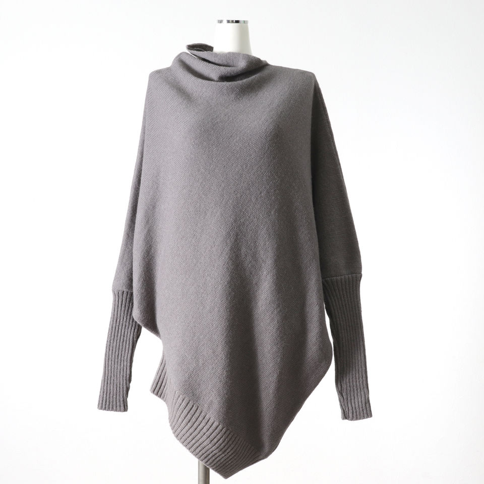 Wo/Ac/Wp Asymmetry Knit Pullover GRAY