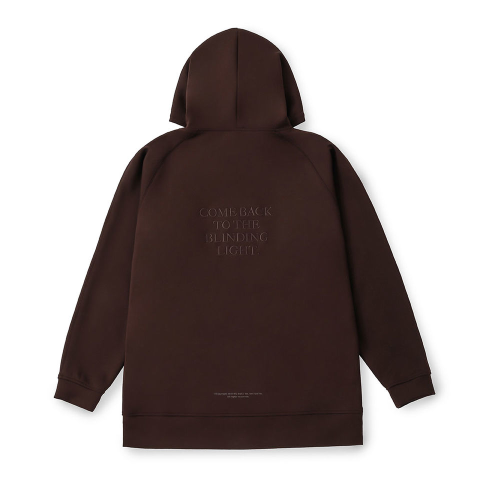 EMBROIDERY LOGO HOODIE CHOCOLATE BROWN